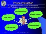 phone interaction
