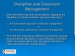 discipline and classroom management