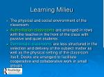 learning milieu