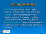 learning modalities