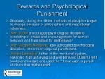 rewards and psychological punishment