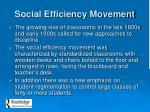 social efficiency movement