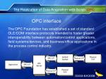 the realization of data acquisition with scilab opc