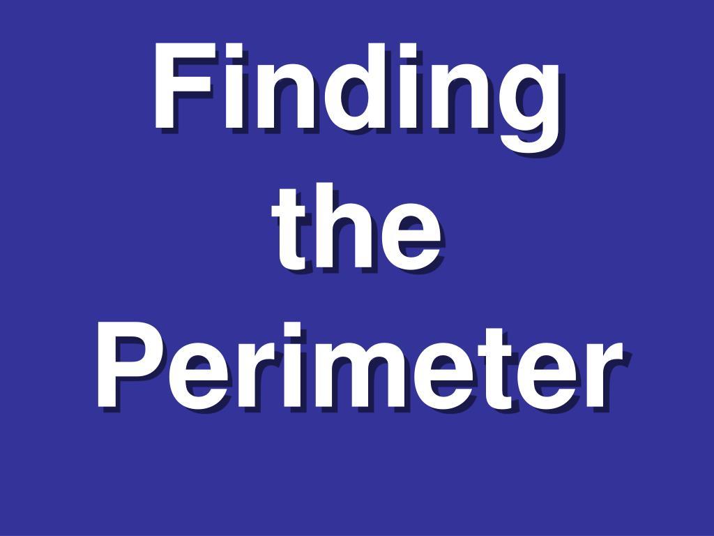finding the perimeter l.