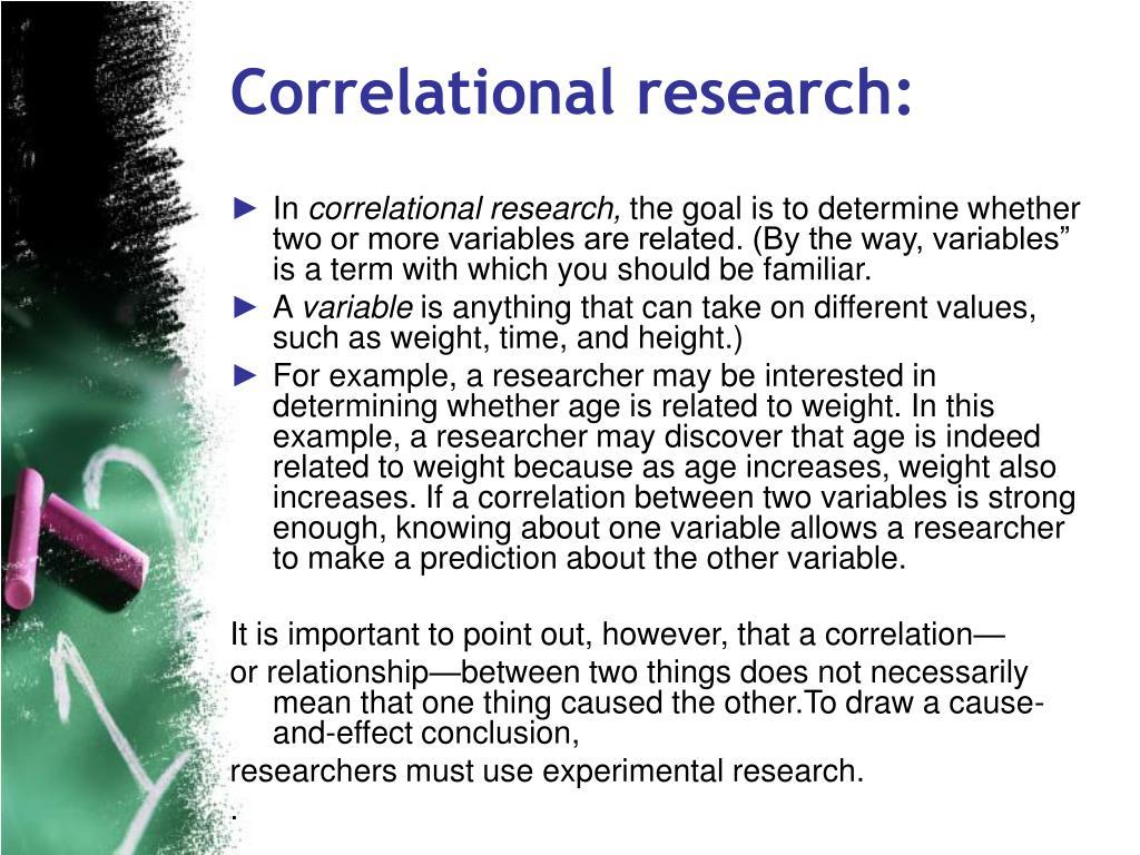 Correlational research: