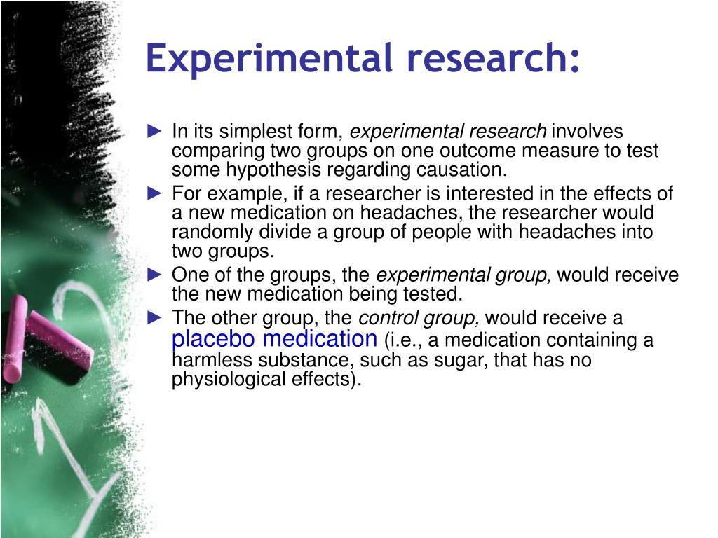 Experimental research: