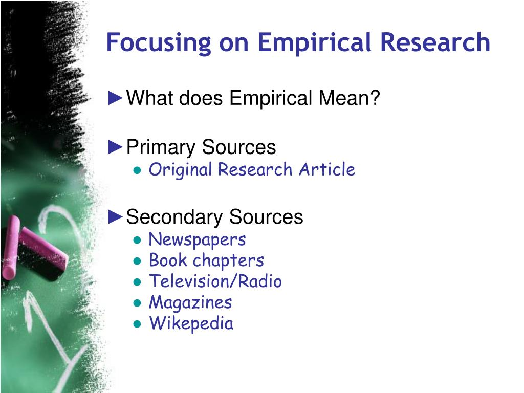 Focusing on Empirical Research