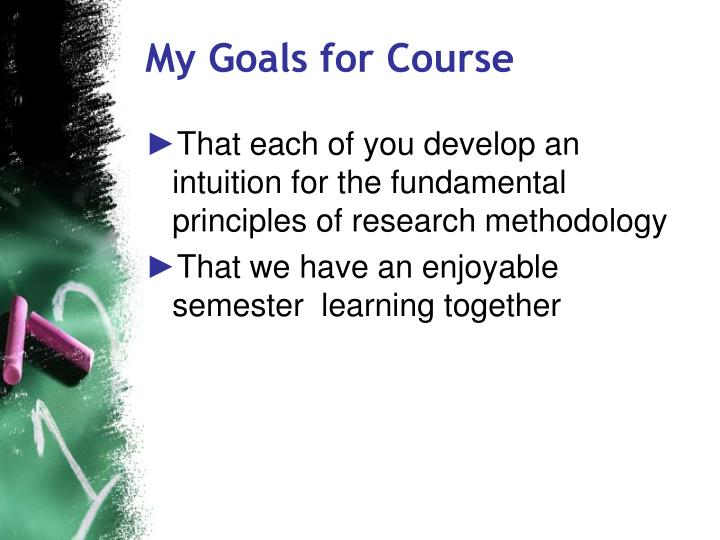 My goals for course