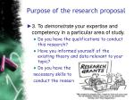 purpose of the research proposal36