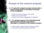 purpose of the research proposal37