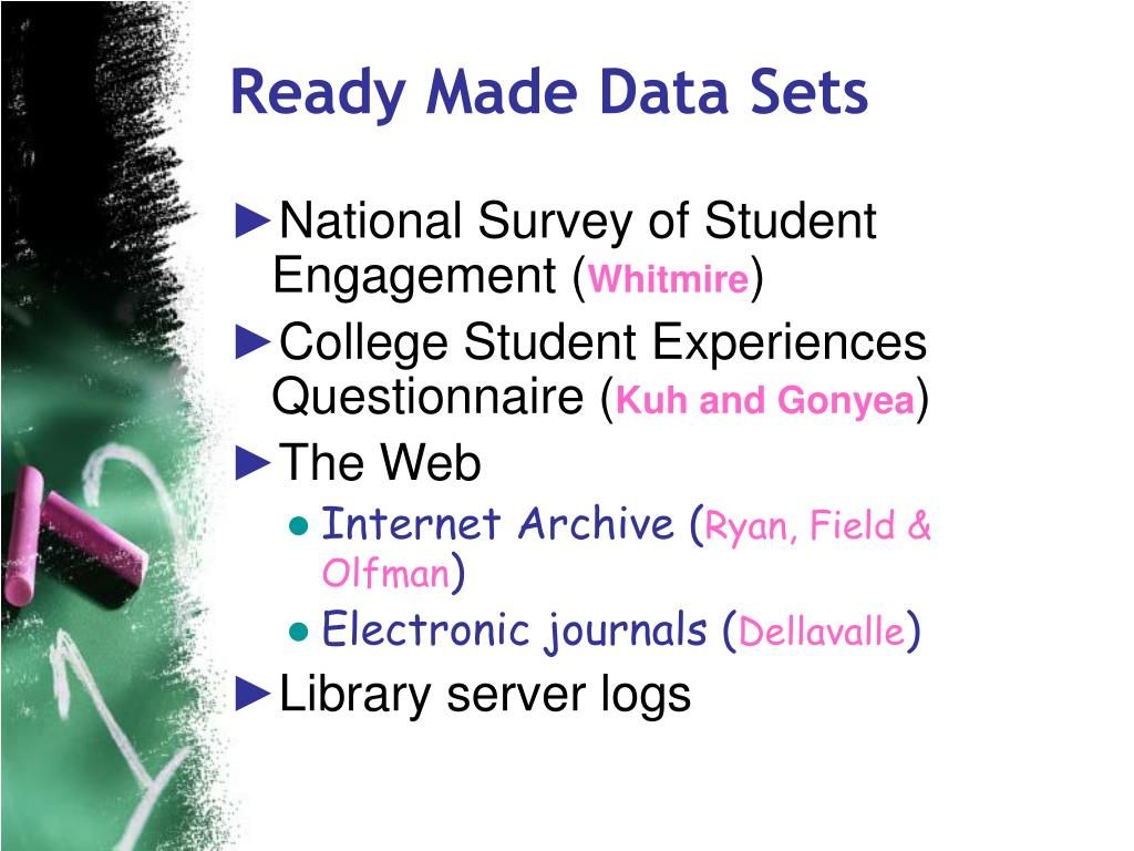 Ready Made Data Sets