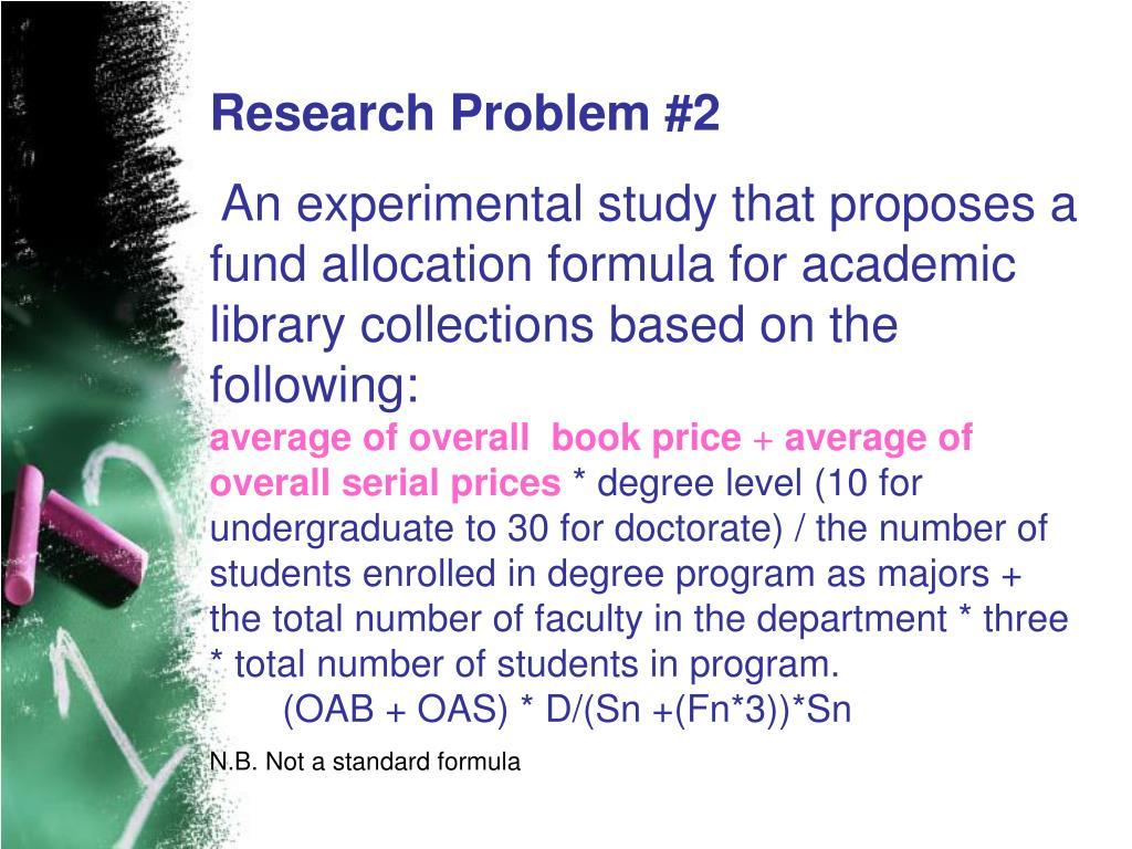 Research Problem #2