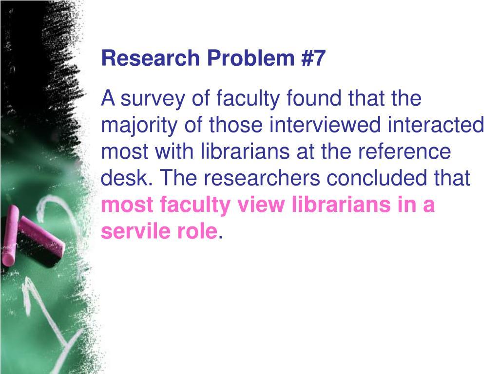 Research Problem #7