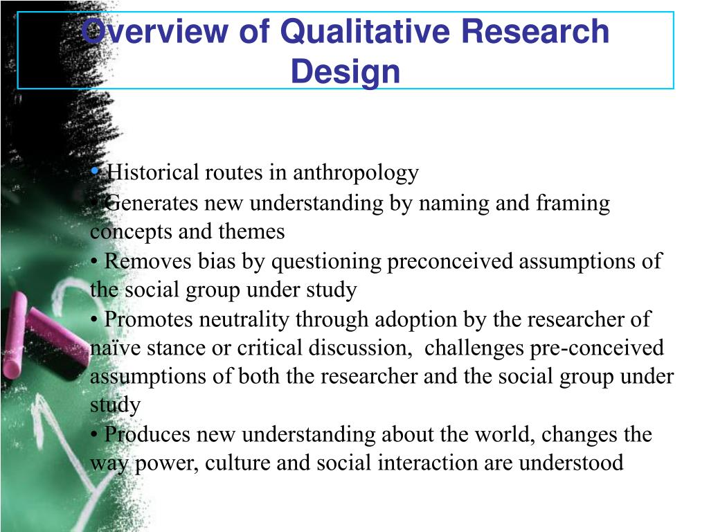 Overview of Qualitative Research Design
