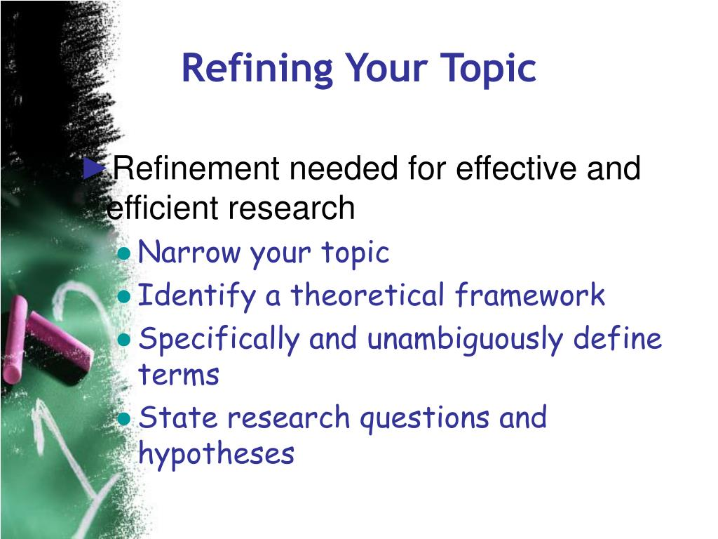 Refining Your Topic