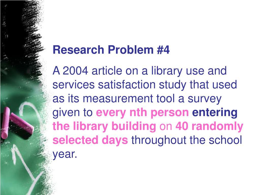 Research Problem #4
