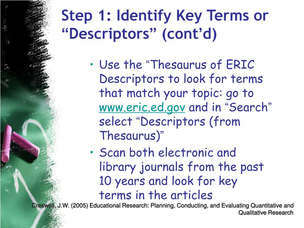 Step 1: Identify Key Terms or