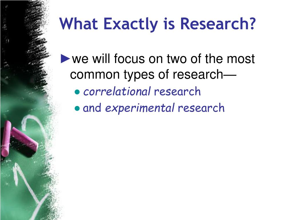 What Exactly is Research?