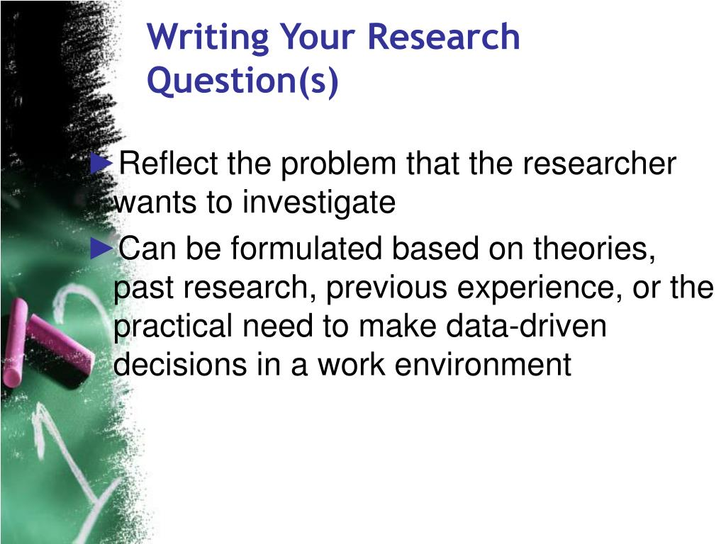 Writing Your Research Question(s)
