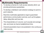 multimedia requirements
