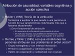 atribuci n de causalidad variables cognitivas y acci n colectiva