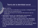 teor a de la identidad social
