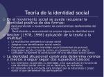 teor a de la identidad social13