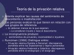 teor a de la privaci n relativa