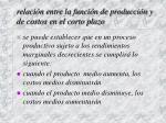 relaci n entre la funci n de producci n y de costos en el corto plazo11