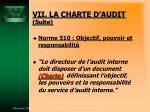 vii la charte d audit suite