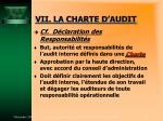 vii la charte d audit