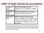 2009 10 high school accountability