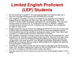 limited english proficient lep students
