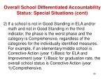 overall school differentiated accountability status special situations cont