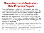 secondary level graduation rate progress targets
