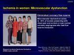 ischemia in women microvascular dysfunction