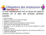 obligations des employeurs7