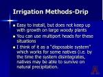 irrigation methods drip