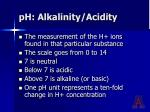 ph alkalinity acidity
