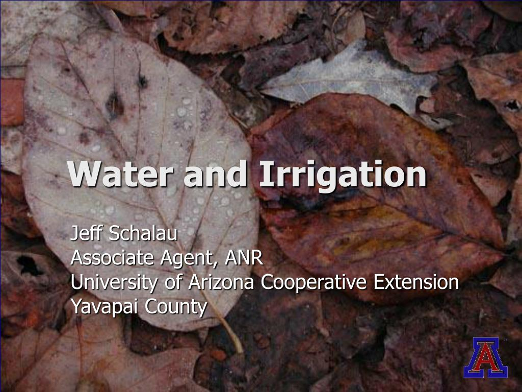 water and irrigation l.