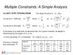 multiple constraints a simple analysis