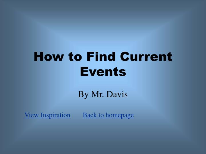 how to find current events n.