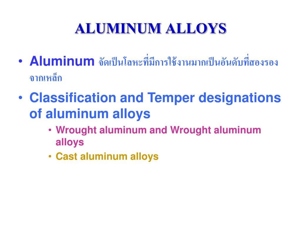 aluminum alloys l.