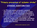 primary prevention of ischemic stroke stenosi asintomatica50