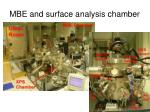 mbe and surface analysis chamber