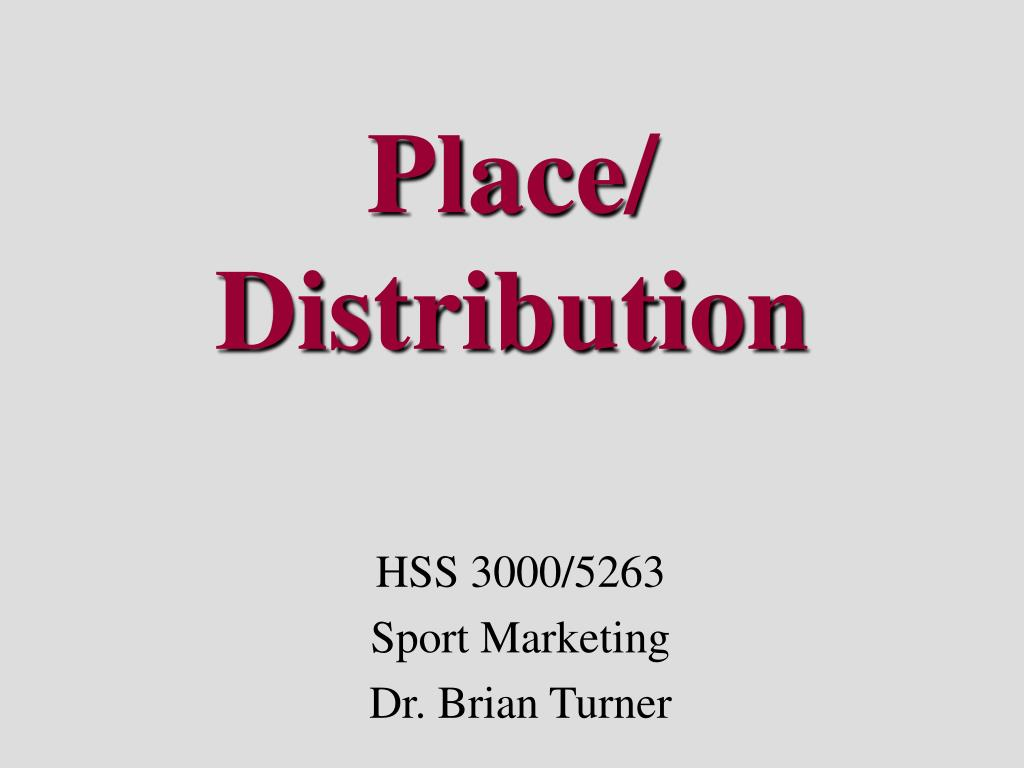place distribution l.