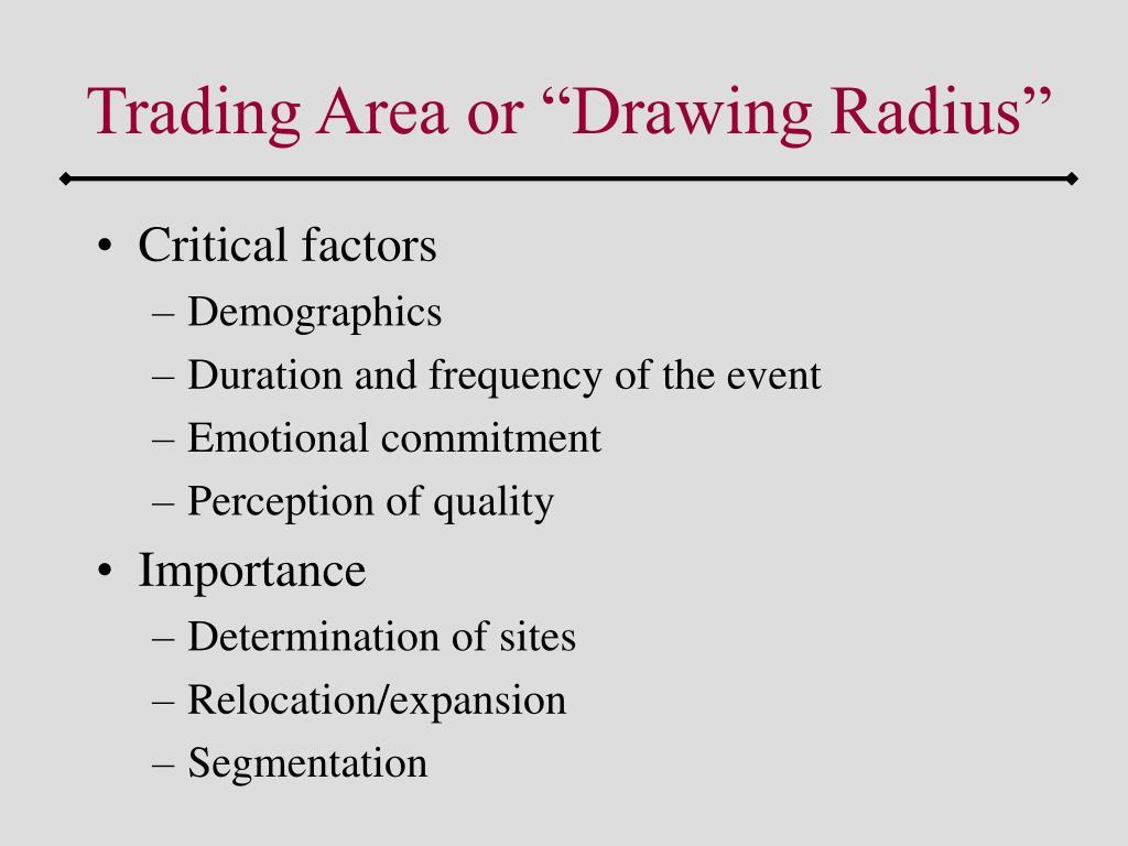 """Trading Area or """"Drawing Radius"""""""