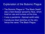 explanation of the bubonic plague