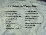 criticisms of projectives