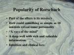 popularity of rorschach